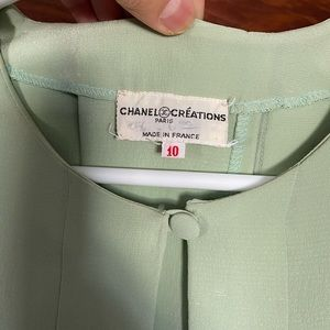 CHANEL Jackets & Coats - Vintage Chanel Pale Green Pleated Jacket